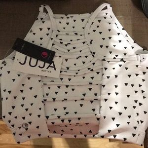 Juja active sports bra cropped tank size small